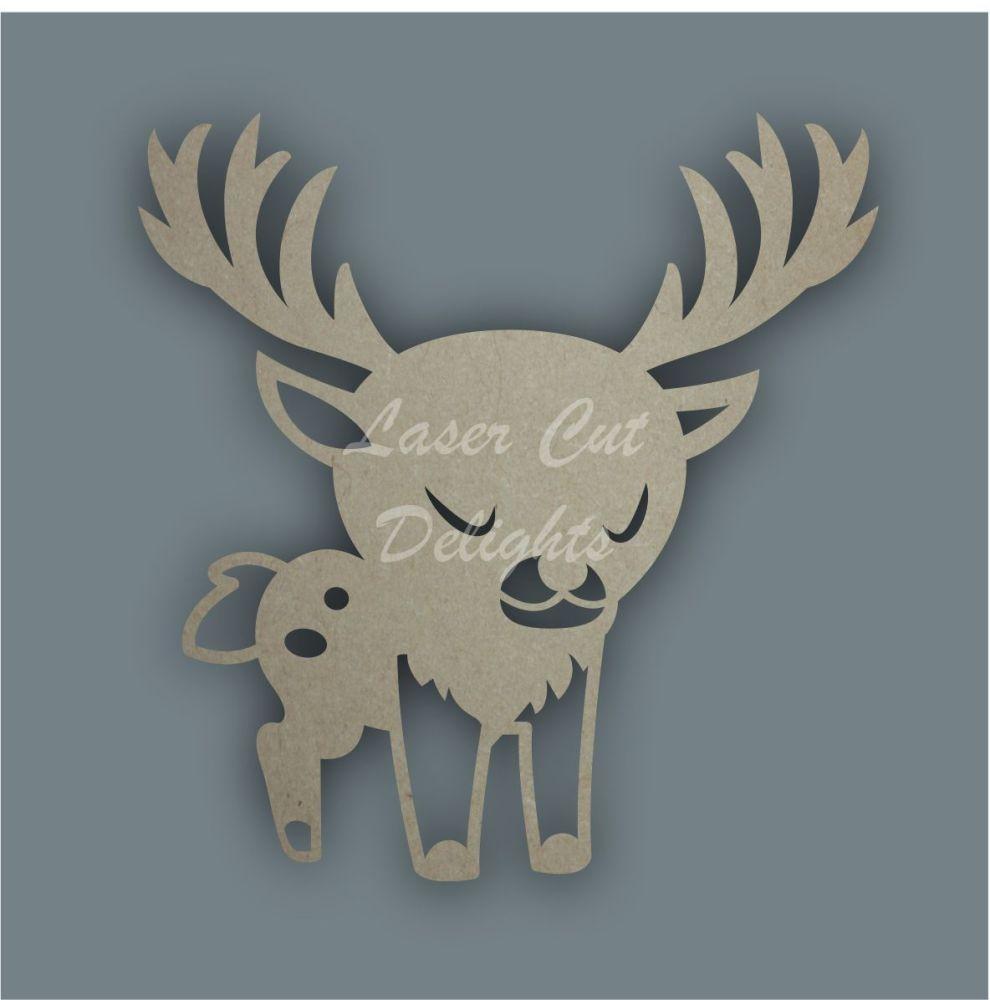 Stag Buck Stencil / Laser Cut Delights