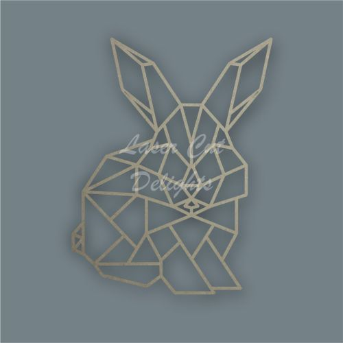 Geometric Bunny Rabbit / Laser Cut Delights