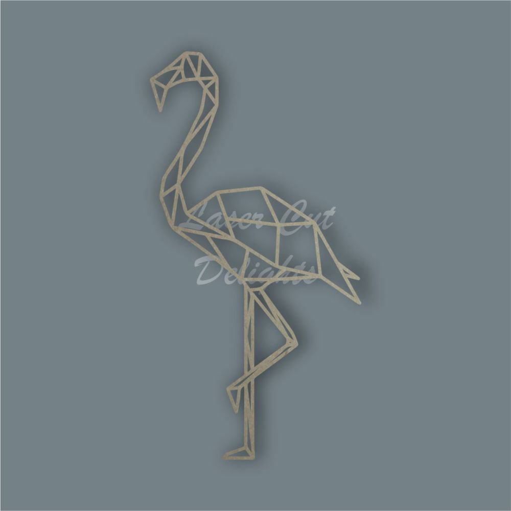 Geometric Flamingo / Laser Cut Delights
