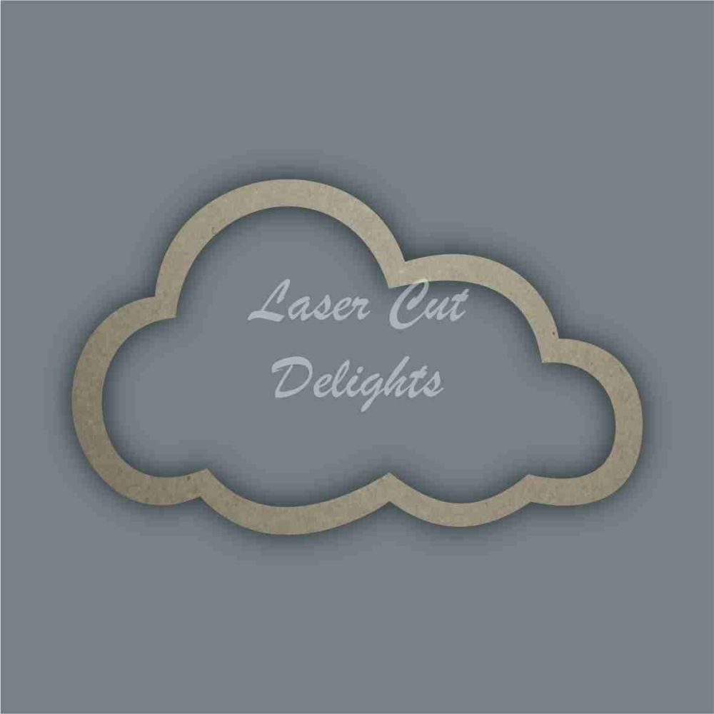 Cloud Stencil / Laser Cut Delights