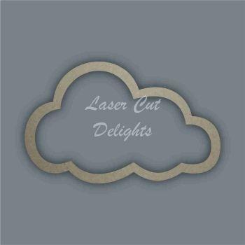 Cloud Outline Stencil / Laser Cut Delights