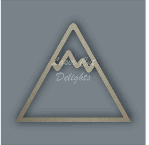 Mountain Stencil / Laser Cut Delights
