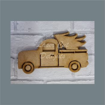 Layered Truck with Christmas Tree / Laser Cut Delights