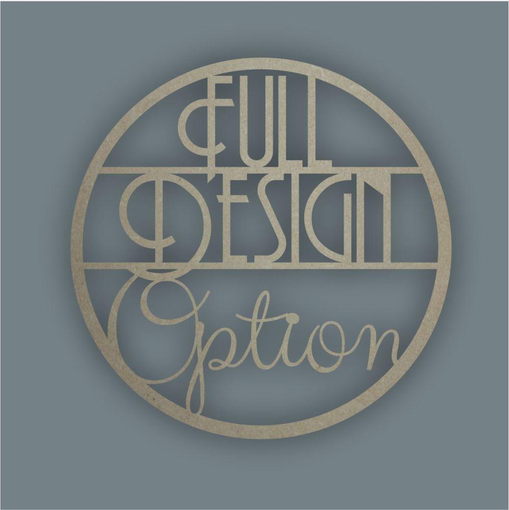 Large Hoop FULL DESIGN OPTION / Laser Cut Delights