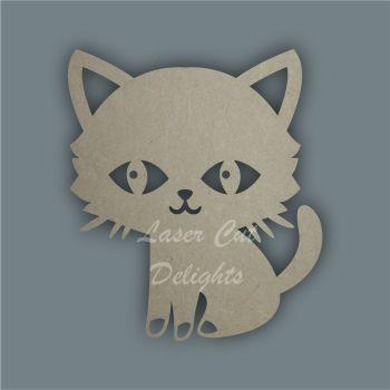Cat Sitting Boy Stencil / Laser Cut Delights
