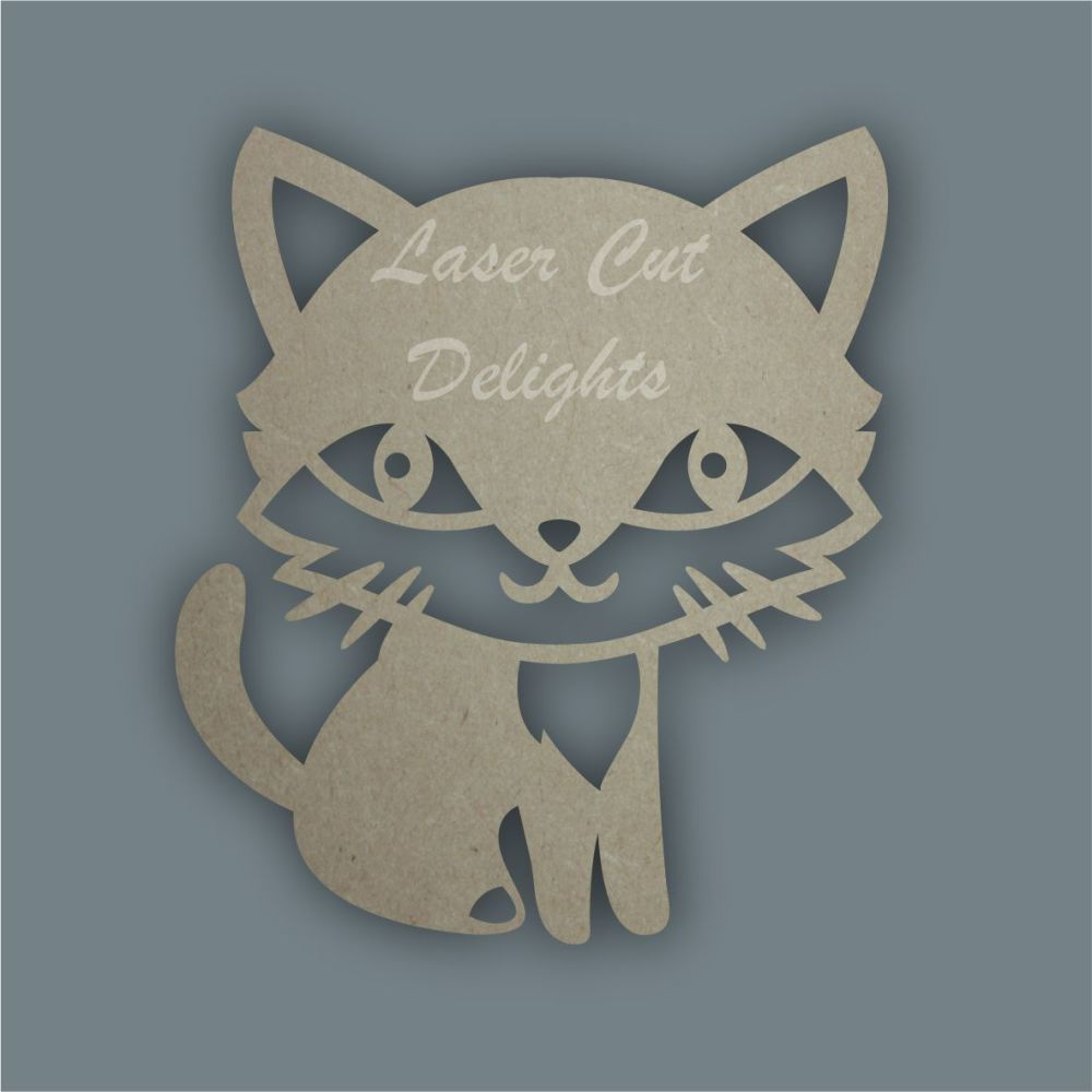 Cat Sitting Girl Stencil / Laser Cut Delights