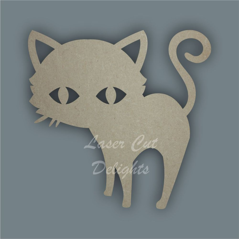 Cat Standing Stencil / Laser Cut Delights