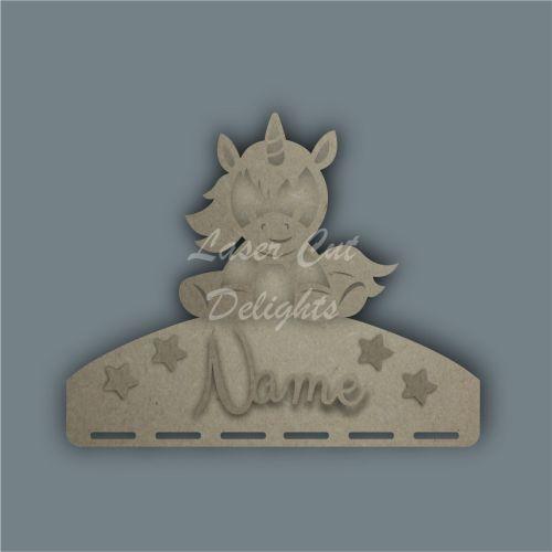 Combination Clip Bow Medal Hanger STENCIL UNICORN SITTING / Laser Cut Delig