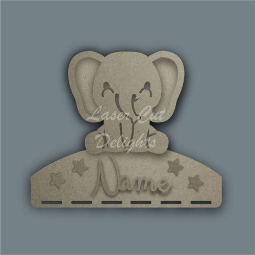 Combination Clip Bow Medal Hanger STENCIL ELEPHANT / Laser Cut Delights