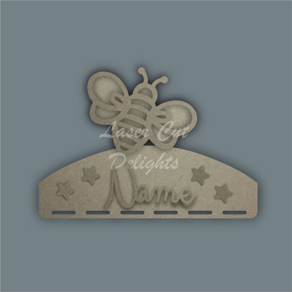 Name Plaque STENCIL BEE Bow Medal Hanger / Laser Cut Delights