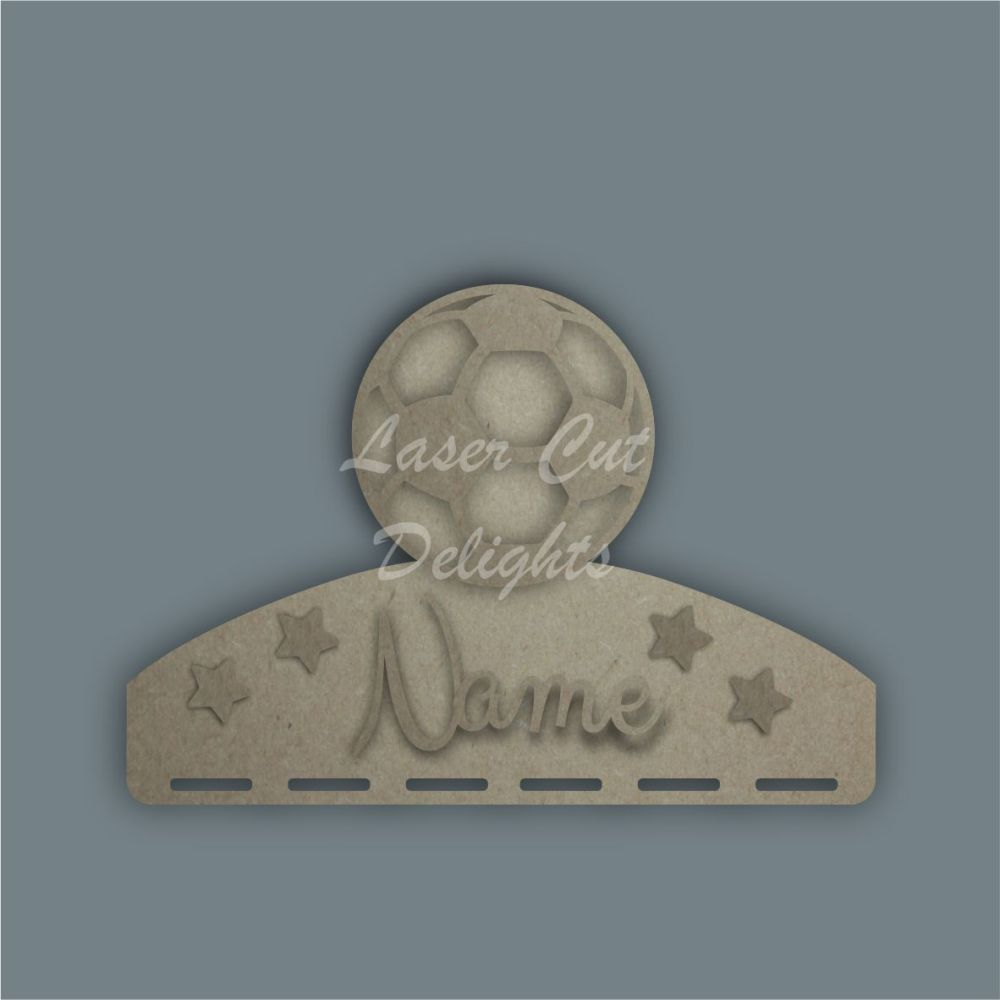 Name Plaque STENCIL ELEPHANT Bow Medal Hanger / Laser Cut Delights