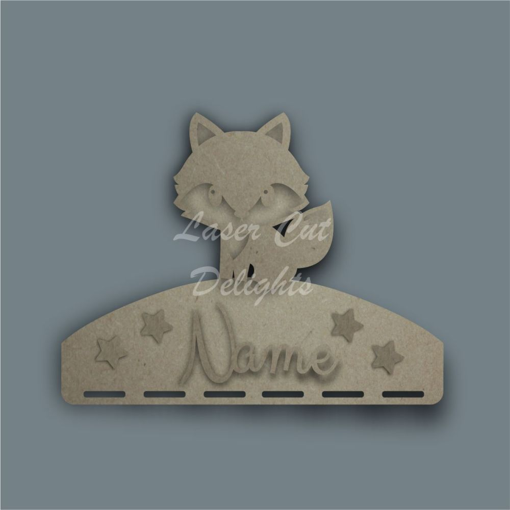 Name Plaque STENCIL FOX Bow Medal Hanger / Laser Cut Delights