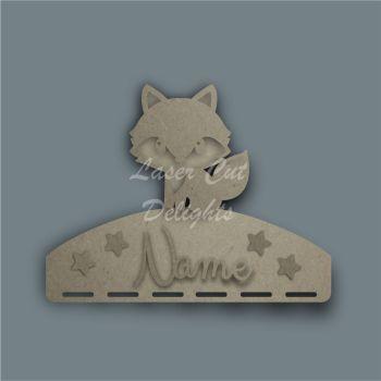 Name Plaque STENCIL FOX Bow Medal Hanger / Laser Cut Delights