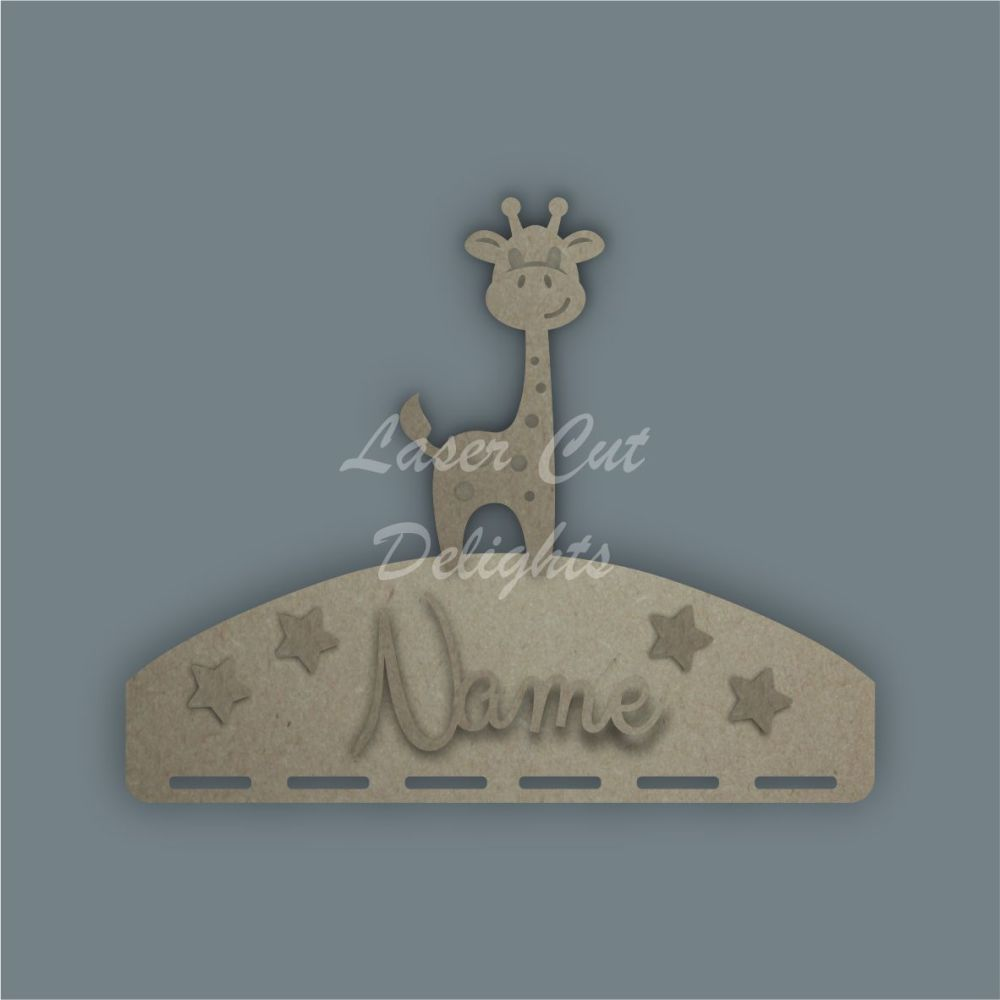 Name Plaque STENCIL GIRAFFE Bow Medal Hanger / Laser Cut Delights