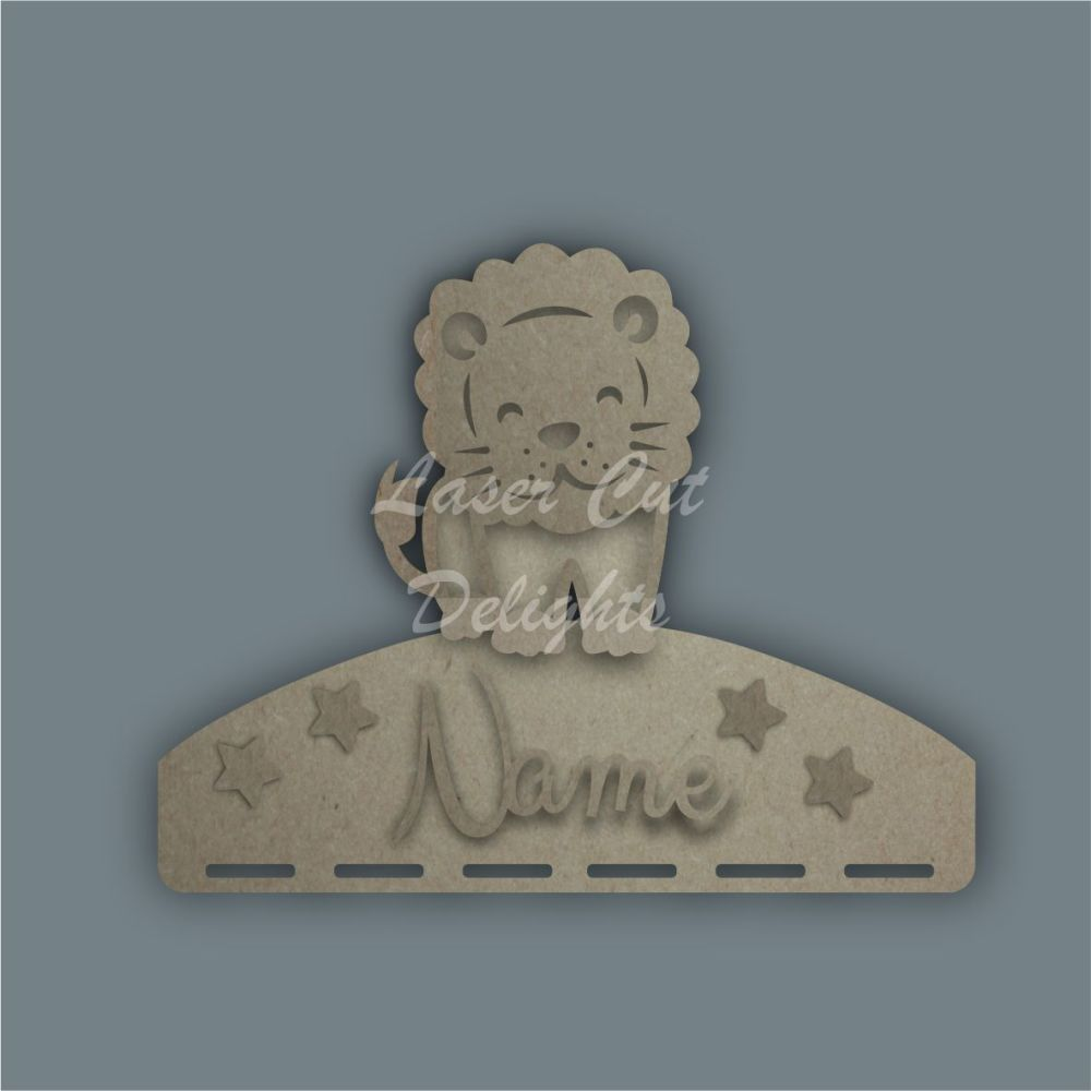 Name Plaque STENCIL LION Bow Medal Hanger / Laser Cut Delights