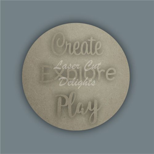 Layered Circle Plaque - Create Explore Play / Laser Cut Delights