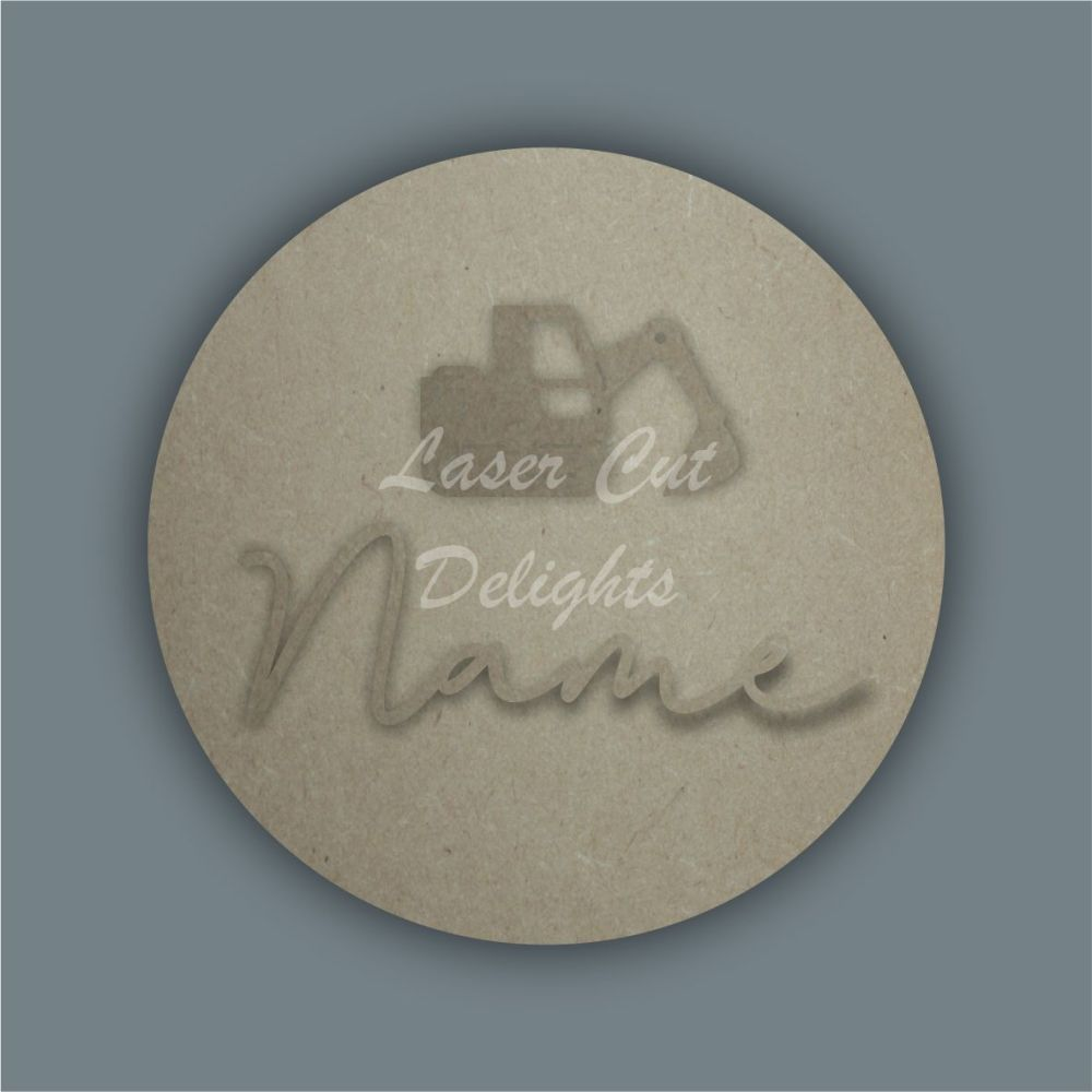 Layered Plaque with Single Name and Stencil Digger / Laser Cut Delights