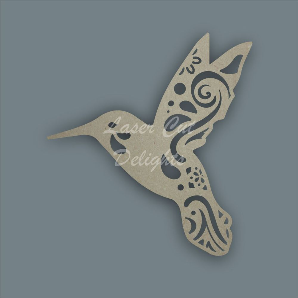 Hummingbird Mandala Swirls / Laser Cut Delights