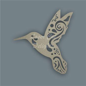 Hummingbird Mandala Swirls / Laser Cut Delights