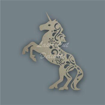 Unicorn Full Mandala Swirls / Laser Cut Delights