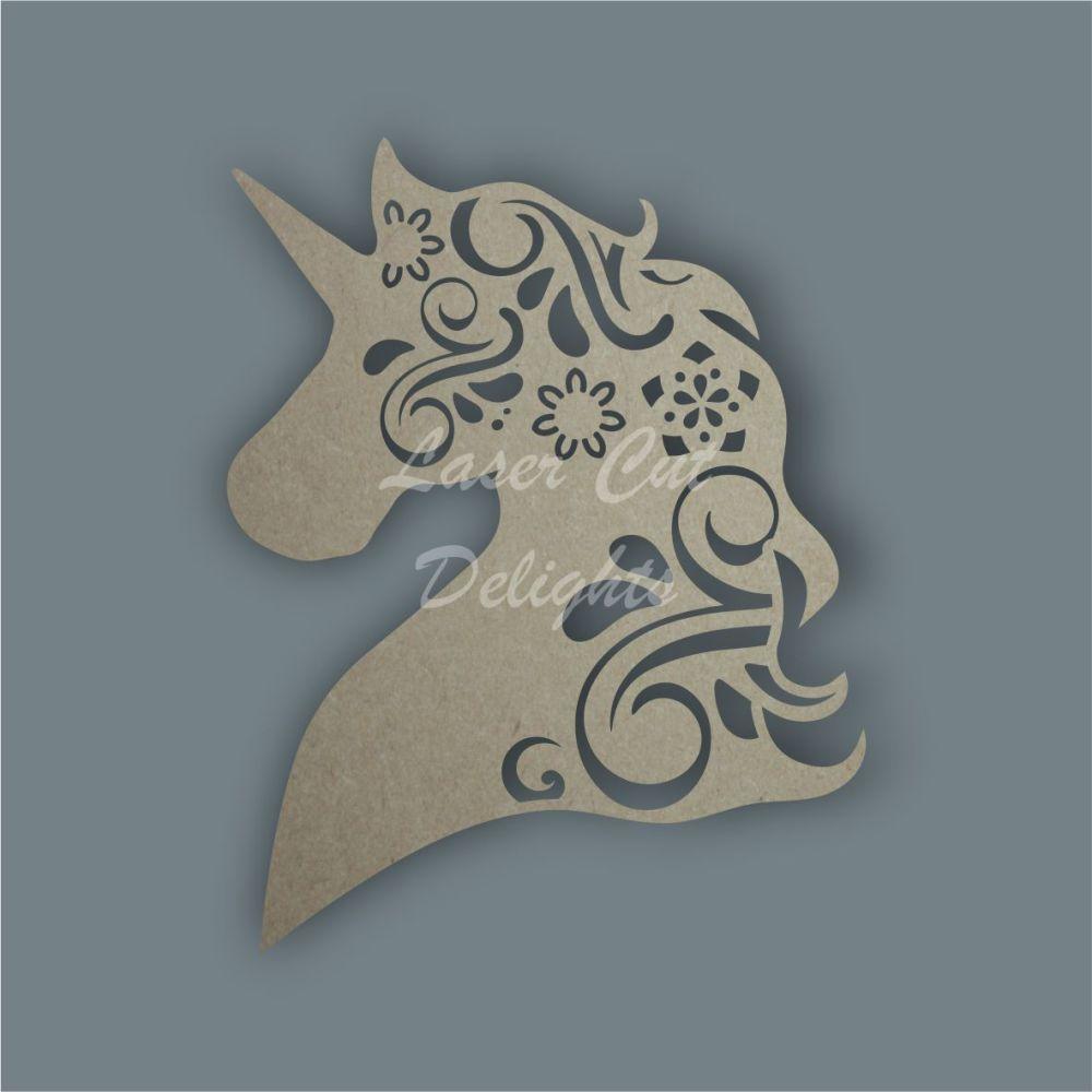 Unicorn Head Mandala / Laser Cut Delights
