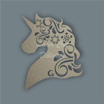 Unicorn Head Mandala Swirls / Laser Cut Delights