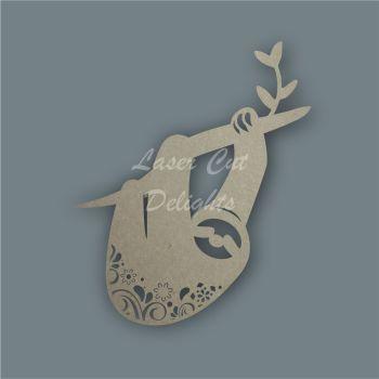 Sloth Mandala Swirls / Laser Cut Delights