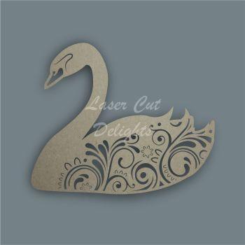 Swan Mandala Swirls / Laser Cut Delights