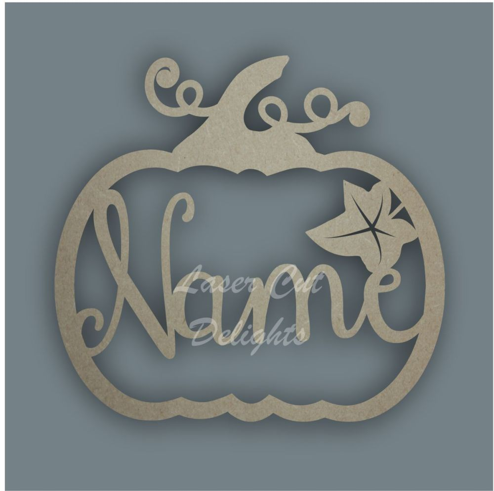 Name in a Pumpkin Bauble / Laser Cut Delights