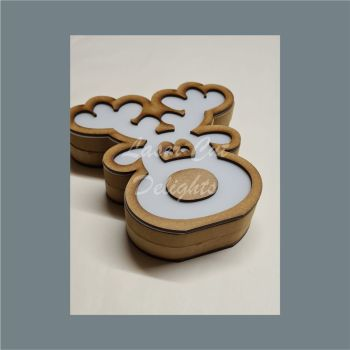 Fillable Shape Reindeer Head / Laser Cut Delights