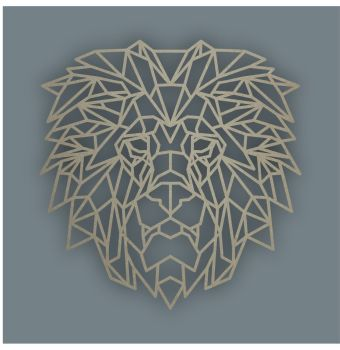 Geometric Lion Head / Laser Cut Delights