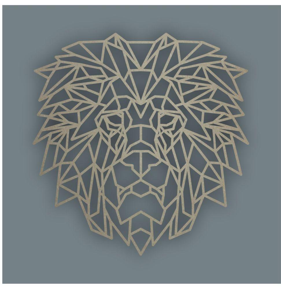 Geometric Lion Head / Laser Cut Delights