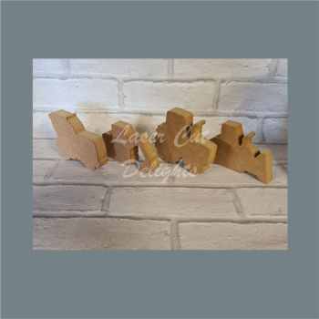 Freestanding Farm Vehicle Set / Laser Cut Delights