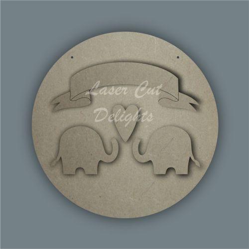Elephant Family Banner / Laser Cut Delights