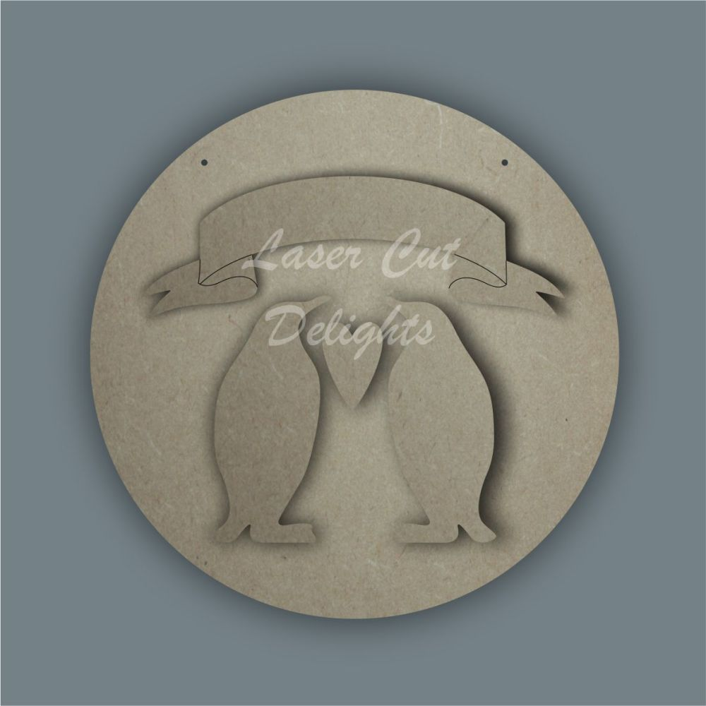 Penguin Family Banner / Laser Cut Delights