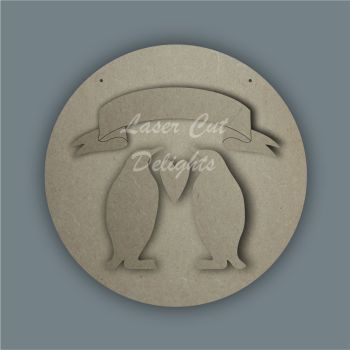 Banner Penguin Family  / Laser Cut Delights