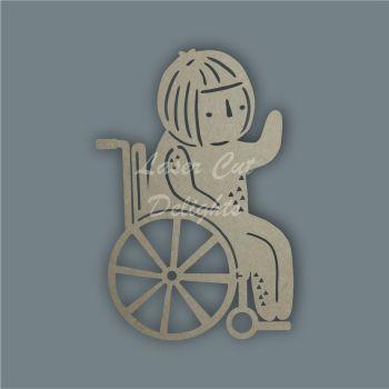 Wheelchair Child Mandala Alternative / Laser Cut Delights