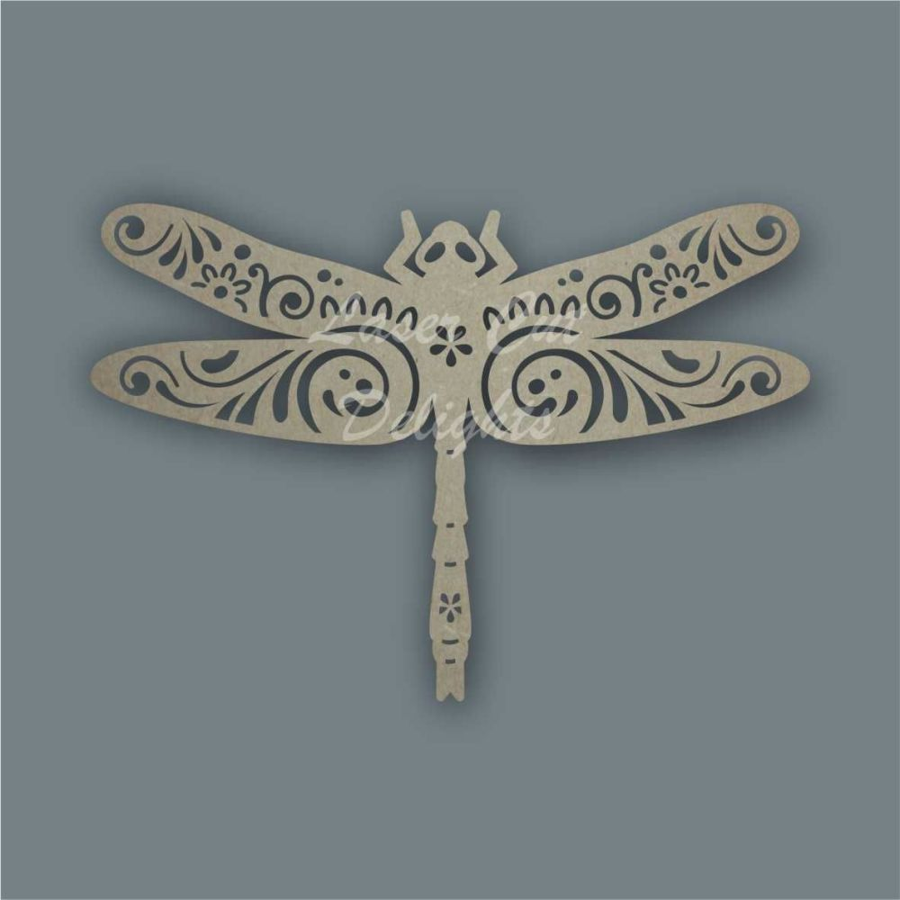 Dragonfly Mandala Swirls / Laser Cut Delights