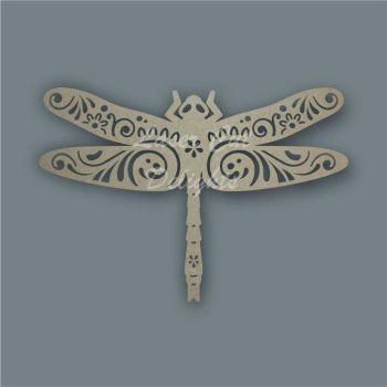 Dragonfly Mandala Swirls / Laser Cut Delights