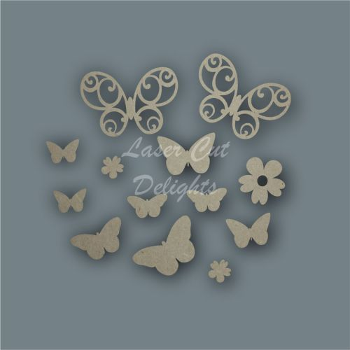 Butterfly Wreath Shape Pack / Laser Cut Delights