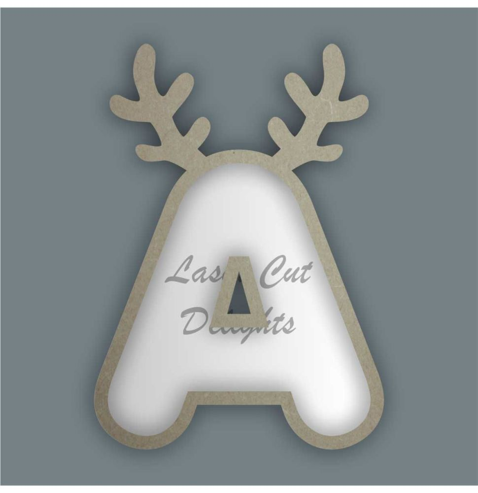 Fillable Any Letters or Numbers ANTLERS (Rounded) / Laser Cut Delights