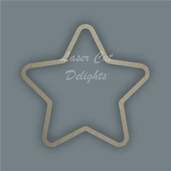 Star Outline Rounded Stencil / Laser Cut Delights