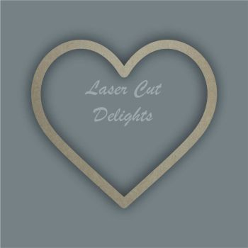 Heart Outline Stencil / Laser Cut Delights