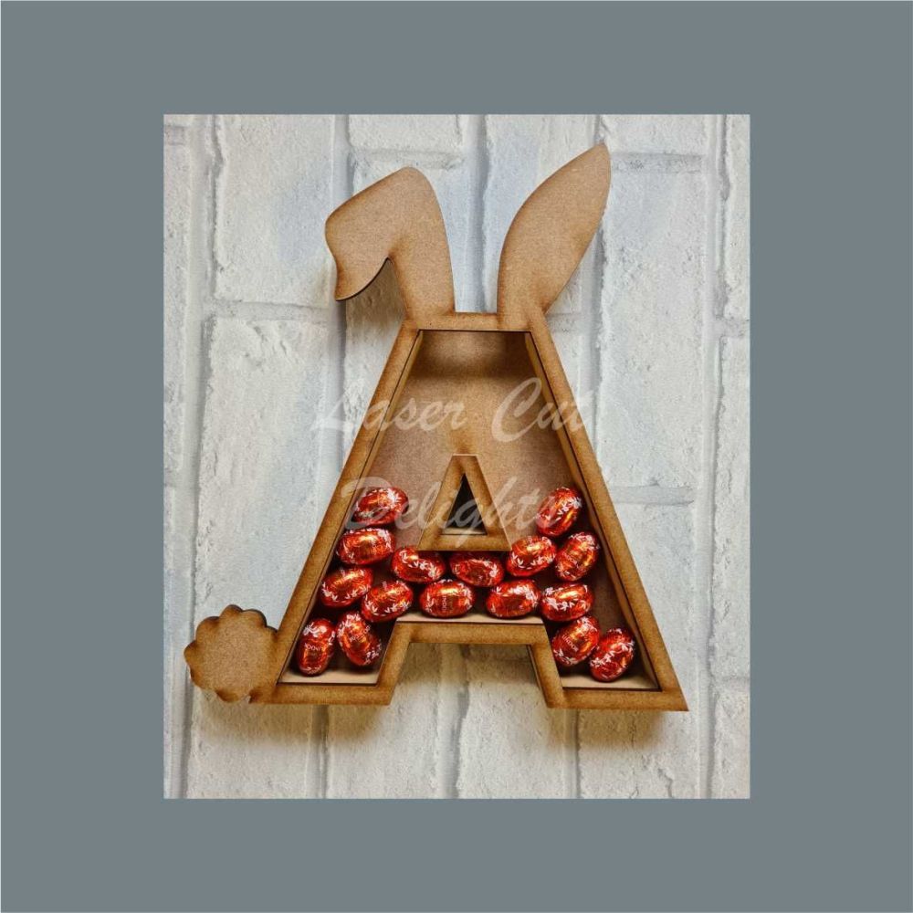 Fillable Any Letters or Numbers RABBIT (Original) / Laser Cut Delights