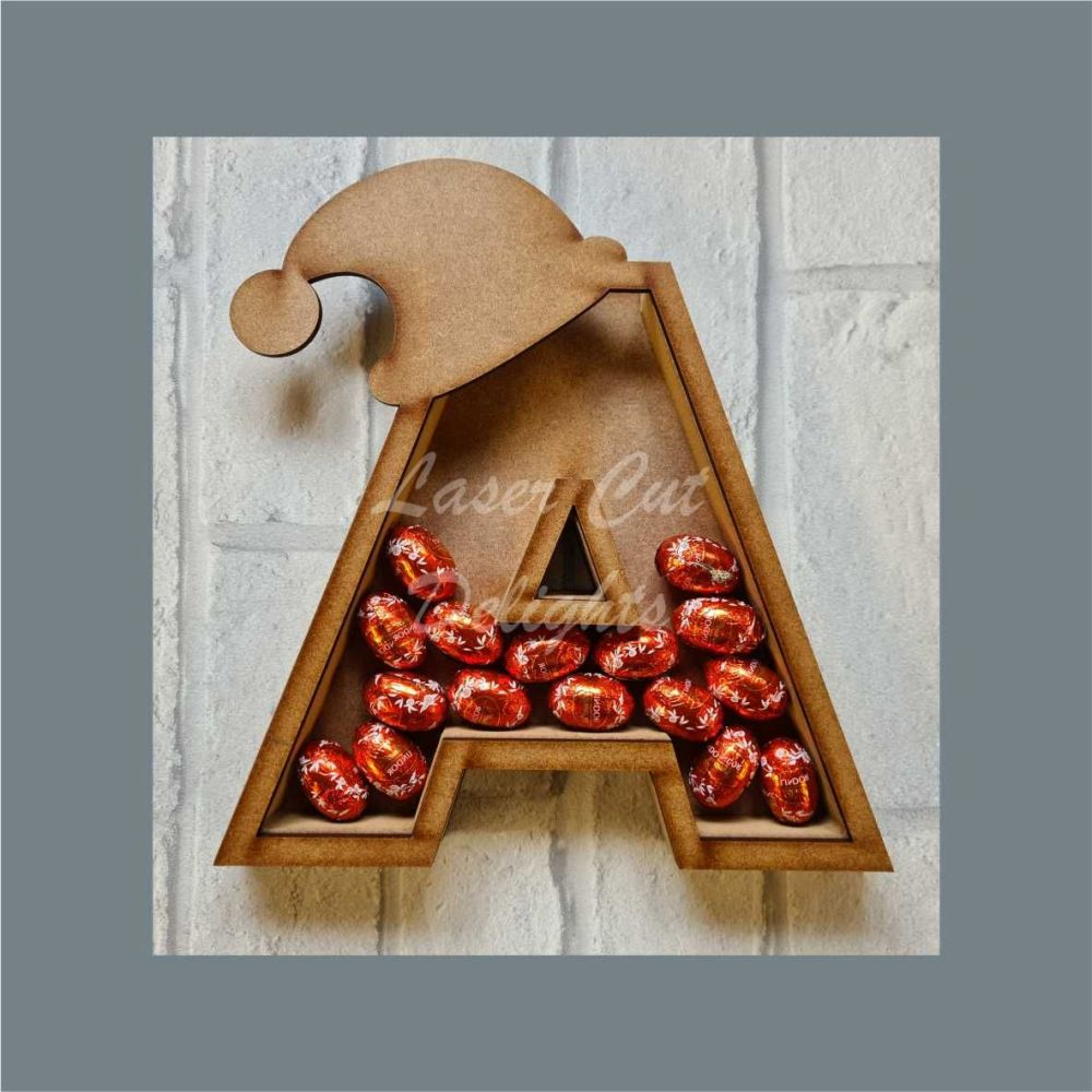 Fillable Any Letters or Numbers SANTA HAT (Original) / Laser Cut Delights