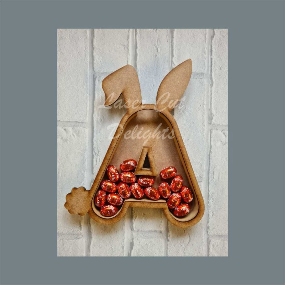 Fillable Any Letters or Numbers RABBIT (Rounded) / Laser Cut Delights