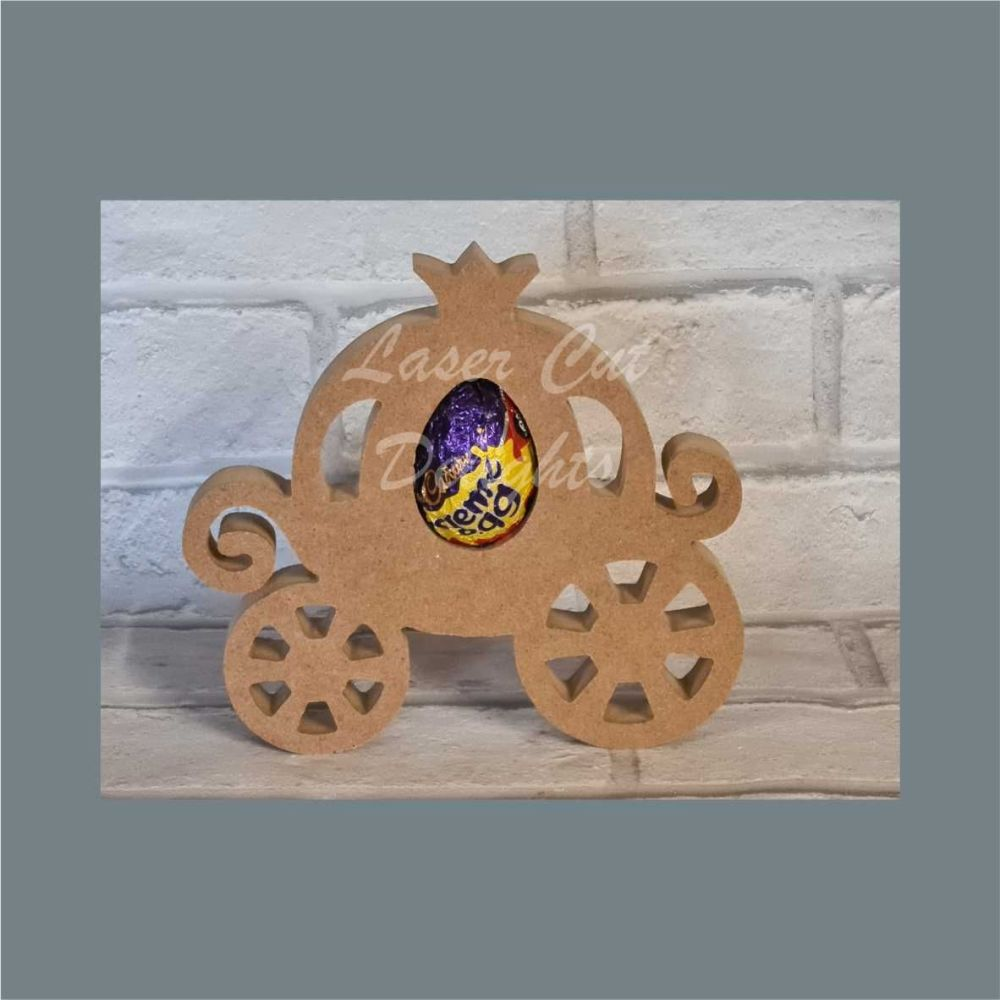 Chocolate Egg Holder 18mm - Princess Carriage / Laser Cut Delights