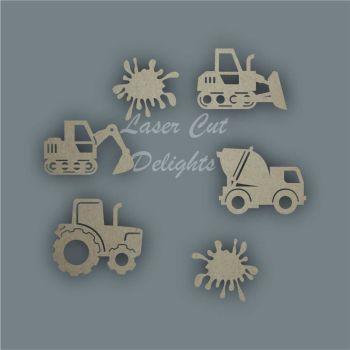 SAME AS WREATH Digger Shape Pack / Laser Cut Delights
