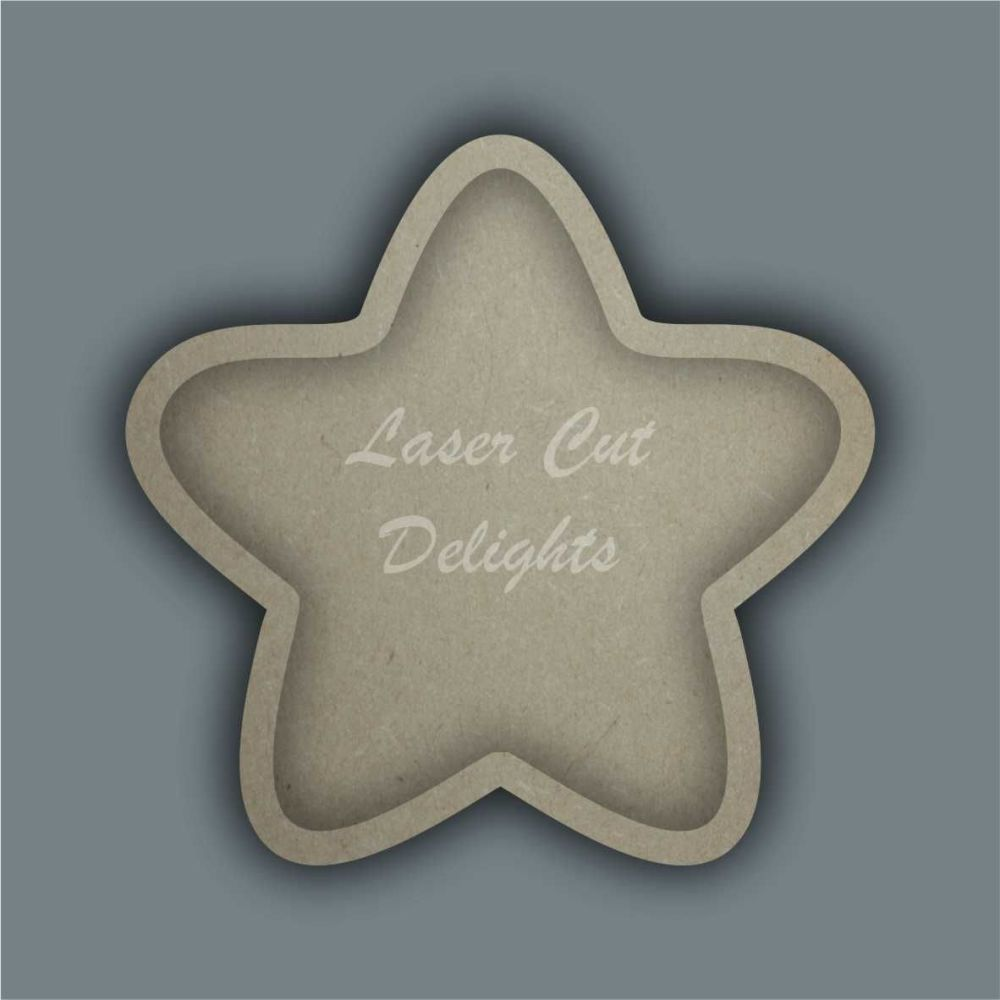 Open Fillable Star Bubble (no acrylic) / Laser Cut Delights