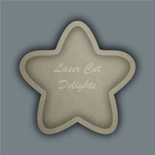 Open Fillable Star Bubble (no acrylic) / Laser Cut Delights